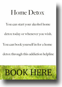 alcohol counsellor home detox